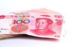 Notas de Yuan. Moeda de China Foto de Stock Royalty Free