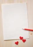 Notas del amor Fotos de archivo