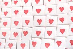 Notas del amor Fondo para el diseño con los corazones rojos imagen de archivo libre de regalías