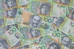 Notas del australiano $100 Fotos de archivo libres de regalías