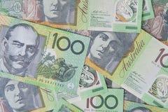 Notas del australiano $100 Imagen de archivo