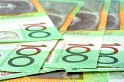 Notas del australiano $100 Fotos de archivo