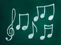 Notas del clef agudo y de la música imágenes de archivo libres de regalías