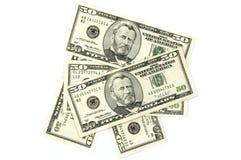 Notas del dólar Fotos de archivo libres de regalías