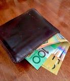 50 notas del dólar australiano imagen de archivo libre de regalías