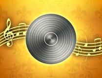 Notas del expediente y de la música de vinilo ilustración del vector