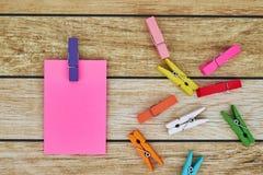 Notas del palillo Fotografía de archivo libre de regalías