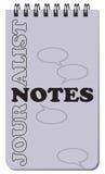 Notas del periodista para el trabajo Fotografía de archivo libre de regalías