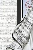 Notas del piano Fotos de archivo libres de regalías