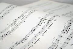 Notas del piano Foto de archivo libre de regalías