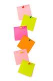 Notas del recordatorio aisladas Fotos de archivo libres de regalías