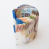 100 notas del shekel Imágenes de archivo libres de regalías