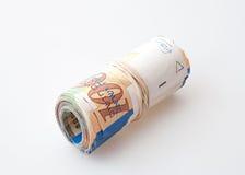 100 notas del shekel Fotos de archivo libres de regalías