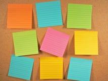 Notas del tablón de anuncios Imagen de archivo libre de regalías