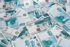 Notas del valor nominal de mil rublos Imágenes de archivo libres de regalías