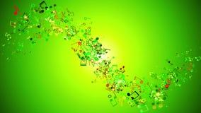 Notas del vuelo sobre fondo verde stock de ilustración