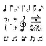 Notas dibujadas mano de la música del vector libre illustration