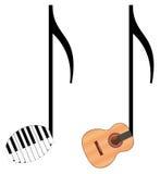 Notas divertidas de la música Imágenes de archivo libres de regalías