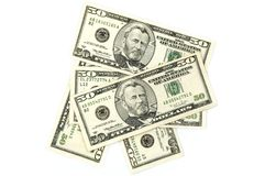 Notas do dólar Fotos de Stock Royalty Free