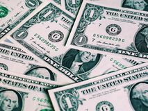 Notas do dólar, Estados Unidos fotografia de stock royalty free