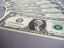 Notas do dólar, Estados Unidos fotografia de stock