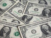 Notas do dólar, Estados Unidos foto de stock royalty free