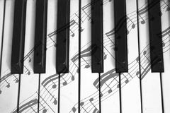 Notas do forte e do piano Fotos de Stock