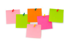 Notas do lembrete isoladas Fotografia de Stock
