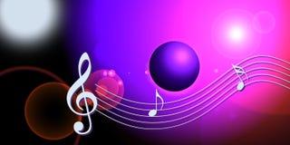 Notas do mundo da música do Internet Foto de Stock Royalty Free