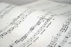 Notas do piano Foto de Stock Royalty Free