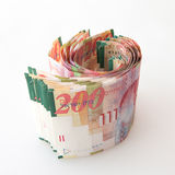 200 notas do shekel Foto de Stock Royalty Free