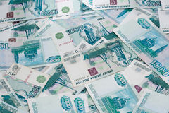 Notas do valor nominal de mil rublos Imagens de Stock Royalty Free