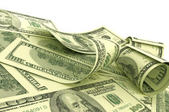 Notas dos dólares americanos Fotos de Stock
