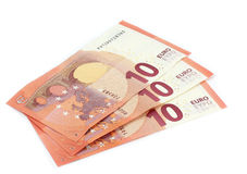 10 notas dos Euros Imagens de Stock Royalty Free