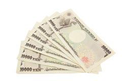 Notas dos ienes japoneses Fotografia de Stock Royalty Free