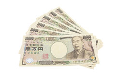 Notas dos ienes japoneses Fotografia de Stock