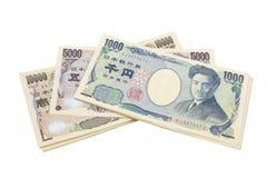 Notas dos ienes japoneses Imagem de Stock