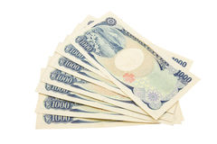 Notas dos ienes japoneses Fotos de Stock Royalty Free
