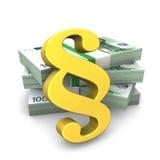 Notas douradas do Euro do parágrafo Foto de Stock