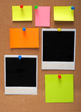 Notas e frames vazios coloridos da foto Imagens de Stock Royalty Free
