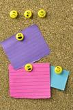Notas en blanco expresivas coloridas Imagenes de archivo