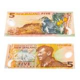 Notas en la moneda de Nueva Zelanda Foto de archivo libre de regalías