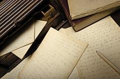 Notas en Sorthand Imagenes de archivo