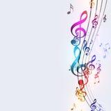 Notas enrrolladas de la música libre illustration