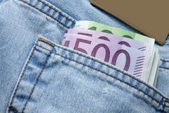 Notas euro Imágenes de archivo libres de regalías
