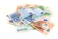 Notas euro Fotografía de archivo libre de regalías