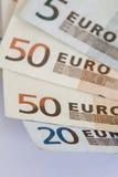 Notas euro Fotos de archivo