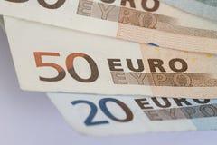 Notas euro Fotografía de archivo
