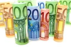 Notas euro Foto de archivo