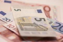 Notas euro Imagen de archivo